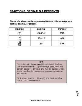 MATH NOTES: Decimals