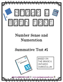MATH PLACE VALUE Number Sense and Numeration with answer key- grade 6 Ontario