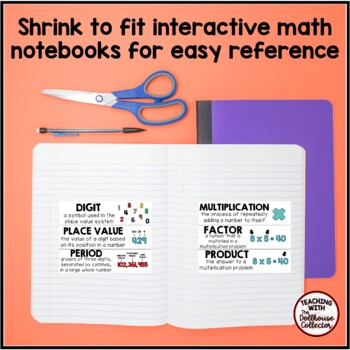 MATH OPERATIONS & ALGEBRAIC THINKING WORD WALL - From the TC Collection