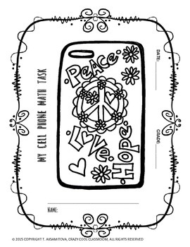 MATH PERFORMACE TASK: DESIGN YOUR OWN CELLPHONE COVER