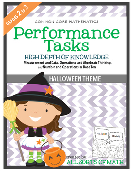 MATH PERFORMANCE TASKS {HALLOWEEN THEME} GRADES 2 to 3
