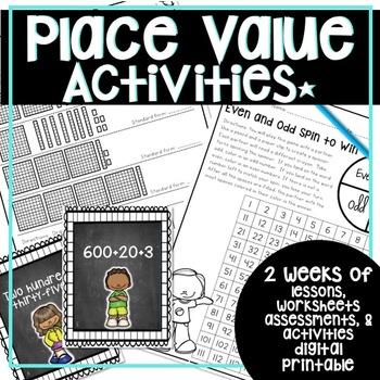 PLACE VALUE UNIT CCSS LESSON PLANS, ASSESSMENTS, ACTIVITIE