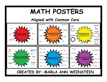 MATH POSTERS COMMON CORE ALIGNED