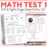 MATH PRACTICE TEST PREP 1 PRINT & DIGITAL (Google Slides)