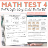 MATH PRACTICE TEST PREP 4 PRINT & DIGITAL (Google Slides)