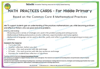 MATH PRACTICES Common Core MIDDLE PRIMARY