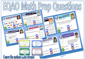 MATH PREP EQAO MATHEMATICS 44 TASK CARDS Provincial Testing Practice