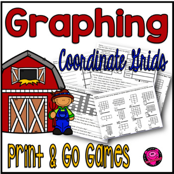 Math Graphing and Coordinate Grids Worksheets and Games