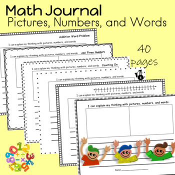 Math Journals  Pictures, Numbers, and Words Common Core Math Strategies