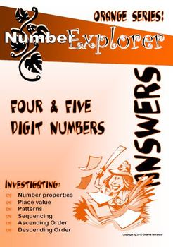 MATH: Place Value and Number Sequences ; 4 & 5 digit numbers ANSWER Pack