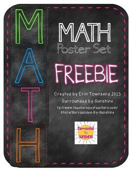 MATH Poster FREEBIE