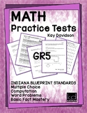 MATH Practice Tests for ILEARN  Grade 5 by Kay Davidson
