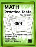 MATH Practice Tests for ILEARN Grade 4 by Kay Davidson