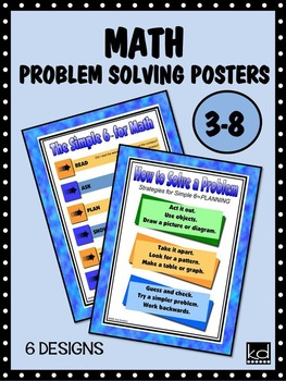 MATH Problem Solving Posters for Grades 3 to 8