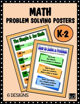 MATH Problem Solving Posters for K-2