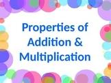 MATH PROPERTIES Commutative, Associative, Distributive, & More PowerPoint PPT