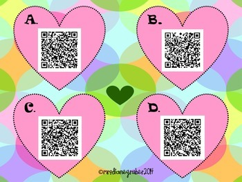 MATH QR CODES with HEARTS 20-32