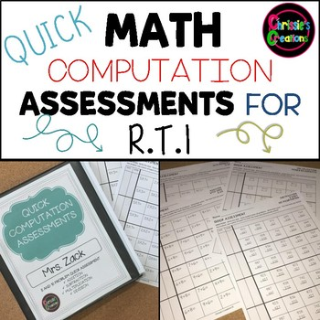 MATH QUICK COMPUTATION ASSESSMENTS- ADD SUBTRACT MULTIPLY DIVIDE