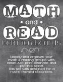 MATH & READ Rotation Boards - Chalk