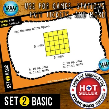 MATH READY 3rd Grade Task Cards – Area of Rectangles ~ BASIC SET 2