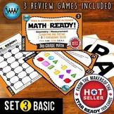3.6A 3rd Grade MATH READY Task Cards Classify & Sort 2D & 3D Solids BASIC SET 3