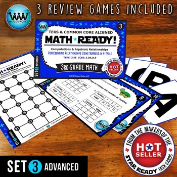 MATH READY 3rd Grade Task Cards Representing Relationships in a Table~ADVANCED 3