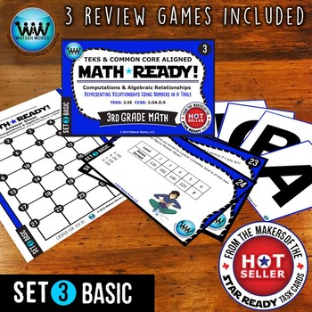 3.5E 3rd Grade Math Task Cards: Representing Relationships in a Table ~ BASIC 3