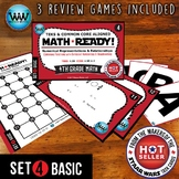 4.3D  4th Grade  MATH READY Task Cards - Comparing Fractions ~ BASIC SET 4