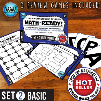 MATH READY 4th Grade Task Cards – Multiply & Divide Whole Numbers ~ BASIC SET 2