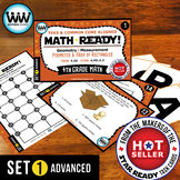 4.5D 4th Grade Math Task Cards – Perimeter & Area of Rectangles  ADVANCED SET 1