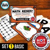 MATH READY 4th Grade Task Cards – Perimeter & Area of Rectangles ~ BASIC SET 1