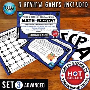 MATH READY 4th Grade Task Cards: Representing Multi-Step P