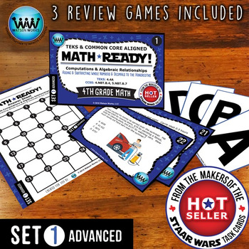 MATH READY Task Cards: Add/Subtract Whole Numbers & Decimals ~ ADVANCED SET 1