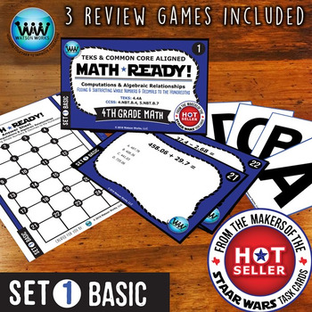 MATH READY Task Cards: Add & Subtract Whole Numbers & Decimals ~ BASIC SET 1