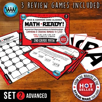 MATH READY Task Cards: Comparing & Ordering Numbers to 1,200 ~ ADVANCED SET 2