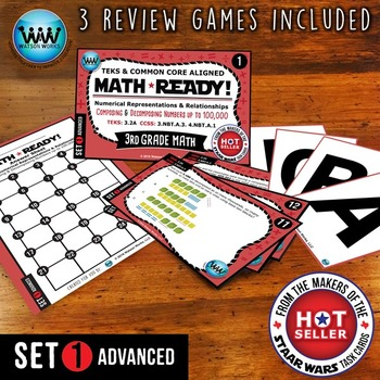 MATH READY Task Cards: Composing & Decomposing Numbers to 100,000~ADVANCED SET 1