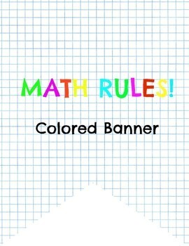 MATH RULES! Colored banner