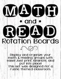MATH & READ Rotation Boards