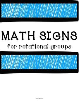 MATH Rotational Signs
