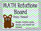 M.A.T.H. Rotations Board  (Puppy Theme)