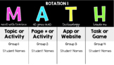 MATH Rotations - Timed Slides