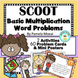 MATH SCOOT! Basic Multiplication Practice with Word Problems!
