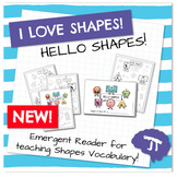 MATH SHAPES Hello Shapes Emergent Reader