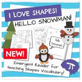 MATH SHAPES Hello Snowman Emergent Reader