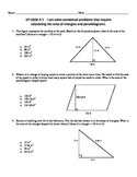 MATH SKILL Area Assessment - Triangles and Parallelograms