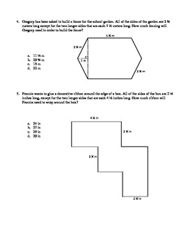 MATH SKILL Area and Perimeter Assessment - Decompose Irregular Figures