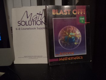 MATH SOLUTIONS  BLAST OFF AIMS 5           SET OF 2