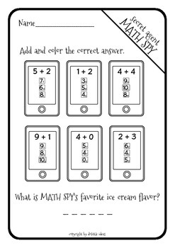 MATH SPY - addition to 10