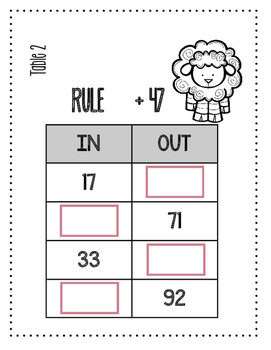 MATH STATIONS - Black and White - Grade 2 - APRIL