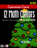 MATH STATIONS - Black and White - Grade 2 - DECEMBER